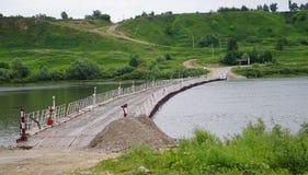 Pontoon bridge Stock Images