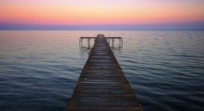 Pontoon bridge at the sunset - Dardanelles Strait Stock Photos