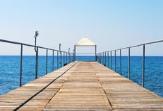 Pontoon Bridge to the Sea Stock Photos