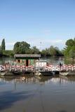 Pontoon bridge Royalty Free Stock Photo