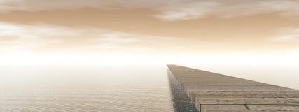 Pontoon - 3D render Stock Image