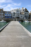 Pontoon dock. For boats in France Royalty Free Stock Photography
