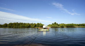 Pontoon ferry Royalty Free Stock Images