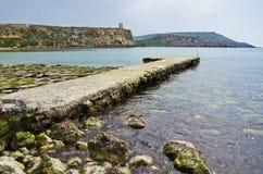 Clean rocky beach  Stock Photos