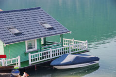 Pontoon house Stock Image