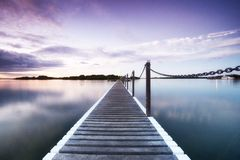 Pontoon jetty Stock Photo