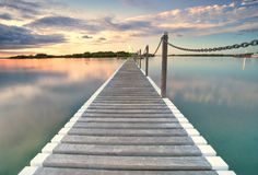 Free Pontoon Jetty Across The Water Stock Photography - 23565012