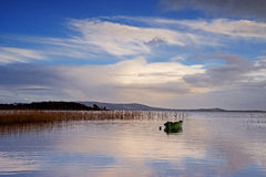 Pontoon lake co.mayo. Pontoon (Irish: Pont Abhann - river point) is a famed angling destination for fishermen from many corners of the globe. Located on the Stock Image