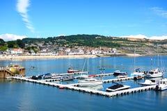Pontoon in Lyme Regis harbour. Stock Image