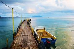 Pontoon over black sea, Crimea Stock Photos