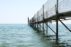 Pontoon on sea Royalty Free Stock Images