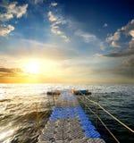 Pontoon in the sea Stock Image