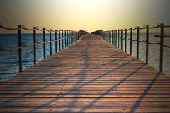 Pontoon in Sharm on the Red Sea Royalty Free Stock Image