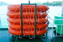 Pontoon in the ship Royalty Free Stock Photography