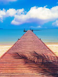 Pontoon surrounded by the sea Stock Photography