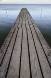 Pontoon. A traditional old handmade wood pontoon, in Sarichioi, Tulcea, Romania Royalty Free Stock Image