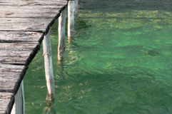 Pontoon On Tropical Water Stock Images