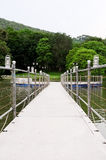 Pontoon walkway Royalty Free Stock Image