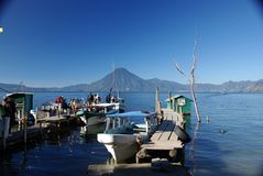 Pontoons in Guatemala Stock Photos