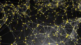 Pontos abstratos da conexão Fundo da tecnologia Conceito da rede ilustração stock