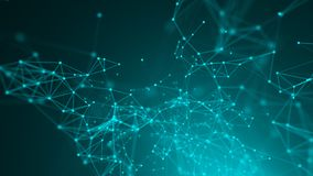 Pontos abstratos da conexão Fundo da tecnologia Tema do azul do desenho de Digitas Conceito da rede ilustração stock