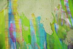 Pontos amarelos brancos verdes enlameados borrados da cera, projeto criativo Imagens de Stock Royalty Free