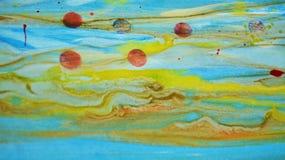 Pontos amarelos vermelhos brancos verdes borrados da cera, projeto criativo Foto de Stock Royalty Free