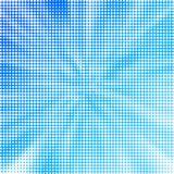 Pontos brancos abstratos de Halfton no fundo azul ilustração royalty free