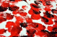 Pontos brancos pretos vermelhos que pintam o fundo abstrato, acrílico da aquarela que pinta o fundo abstrato fotos de stock
