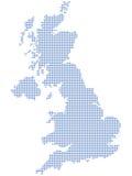 Pontos BRITÂNICOS do mapa Fotografia de Stock