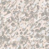 Pontos cinzentos abstratos e contornos da garatuja das flores e das folhas no fundo cor-de-rosa ilustração stock