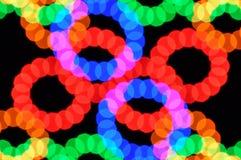 Pontos claros e círculos coloridos Foto de Stock Royalty Free