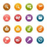 Pontos coloridos - ícones clássicos do Web Imagens de Stock