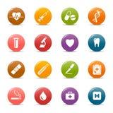 Pontos coloridos - ícones médicos Fotografia de Stock Royalty Free