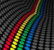 Pontos coloridos Imagens de Stock
