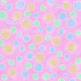 Pontos coloridos Pastel no fundo cor-de-rosa Fotografia de Stock