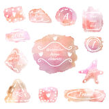 Pontos cor-de-rosa Fotos de Stock