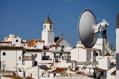 Pontos da antena do Internet para a vila espanhola Imagens de Stock