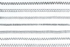Pontos da máquina de costura ilustração royalty free