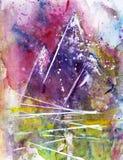 Pontos de férias da textura da montanha da aquarela Fotografia de Stock