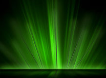 Pontos de incandescência verdes Fotos de Stock Royalty Free