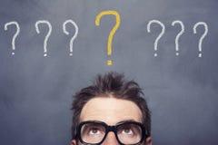 Pontos de interrogação Fotos de Stock
