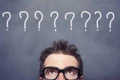 Pontos de interrogação Fotografia de Stock