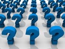 Pontos de interrogação Imagem de Stock