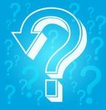 Pontos de interrogação Fotografia de Stock Royalty Free