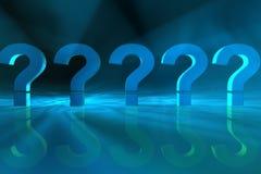 Pontos de interrogação imagens de stock royalty free