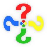 Pontos de interrogação coloridos da parte Imagem de Stock