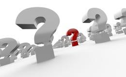 pontos de interrogação 3d Imagem de Stock