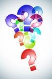 Pontos de interrogação do fundo Imagem de Stock Royalty Free