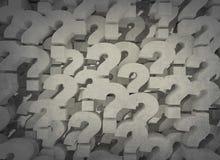 Pontos de interrogação do fundo de 3d ilustração royalty free